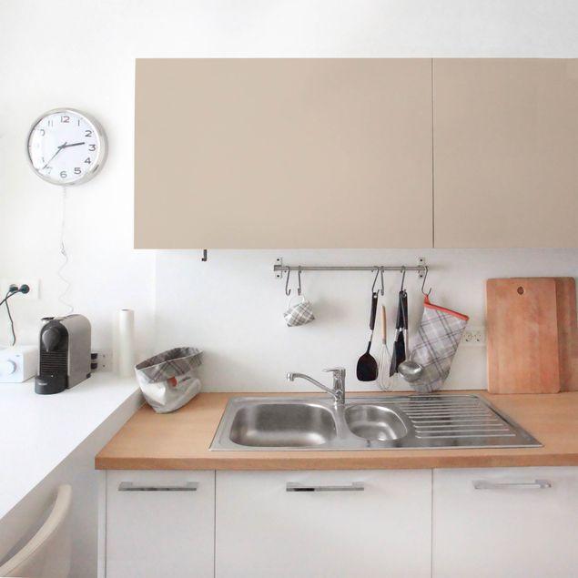 Möbelfolie beige einfarbig - Macchiato - pastell - Klebefolie für Möbel