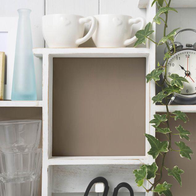 Möbelfolie cappucino einfarbig - Mokka - Folie für Möbel hellbraun pastell selbstklebend
