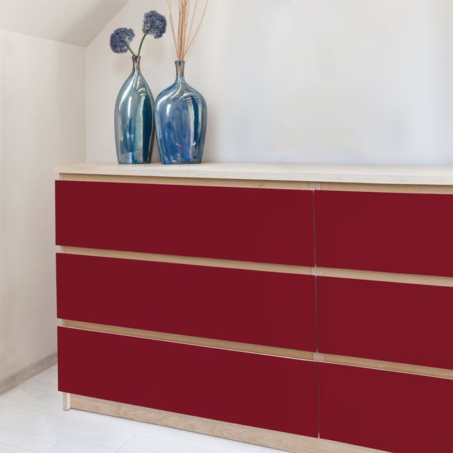 Möbelfolie rot einfarbig - Amarena - Rote Folie für Möbel selbstklebend