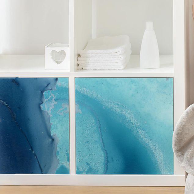 Möbelfolie - Welle Aquarell Blau I