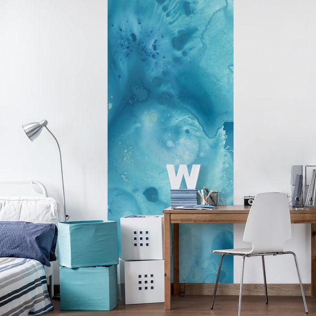 Möbelfolie - Welle Aquarell Türkis I