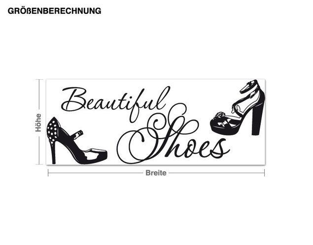 Möbeltattoo Beautiful Shoes