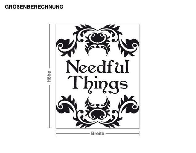 Möbeltattoo Needful Things
