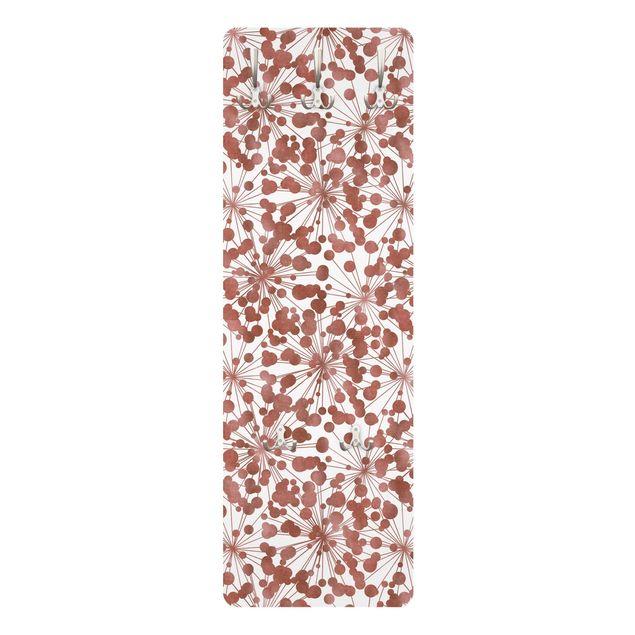 Garderobe - Natürliches Muster Pusteblume mit Punkten Kupfer
