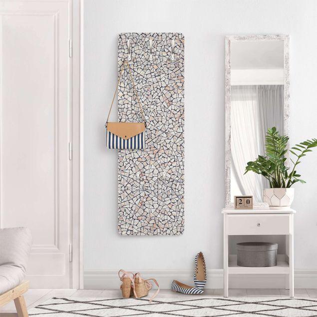 Garderobe - Natürliches Steinmosaik mit Sandfugen
