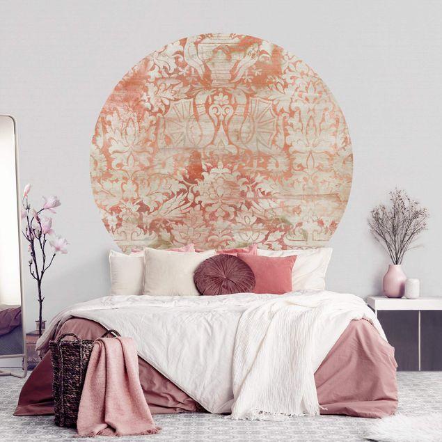 Runde Tapete selbstklebend - Ornamentgewebe II