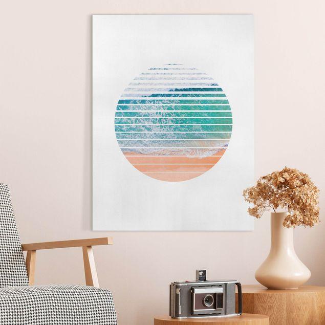 Leinwandbild - Ozean im Kreis - Hochformat 3:4