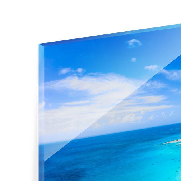Spritzschutz Glas - Paradies auf Erden - Querformat 3:2