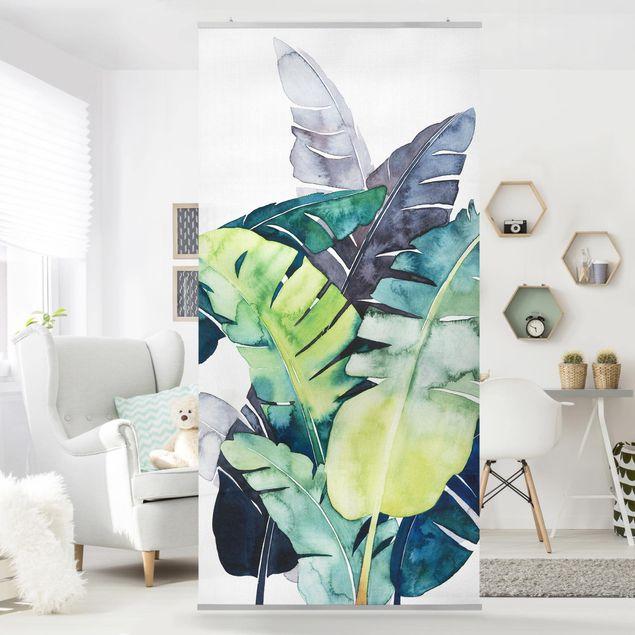 Raumteiler - Exotisches Blattwerk - Banane - 250x120cm