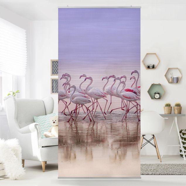 Raumteiler - Flamingo Party - 250x120cm