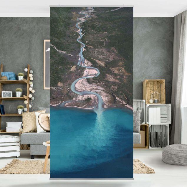 Raumteiler - Fluss in Grönland - 250x120cm