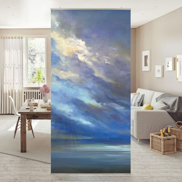 Raumteiler - Küstenhimmel dunkel - 250x120cm