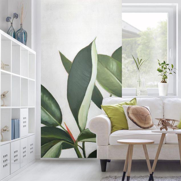 Raumteiler - Lieblingspflanzen - Gummibaum - 250x120cm