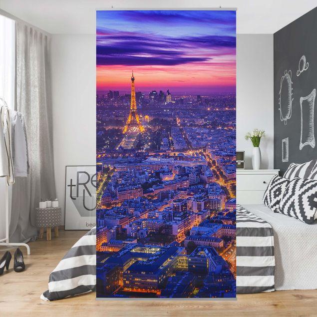 Raumteiler - Paris bei Nacht - 250x120cm