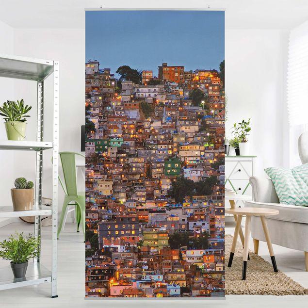 Raumteiler - Rio de Janeiro Favela Sonnenuntergang - 250x120cm