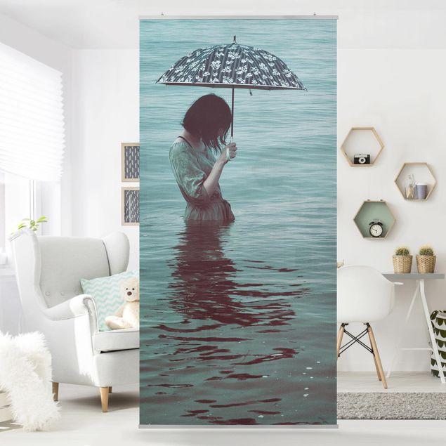 Raumteiler - Spaziergang im Wasser - 250x120cm
