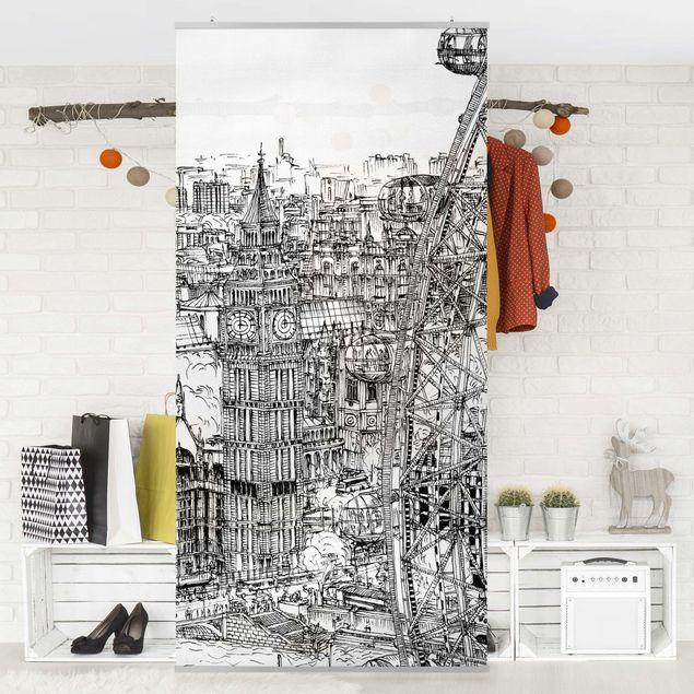 Raumteiler - Stadtstudie - London Eye - 250x120cm