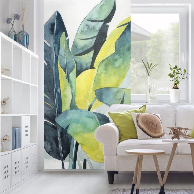 Raumteiler - Tropisches Blattwerk - Banane - 250x120cm