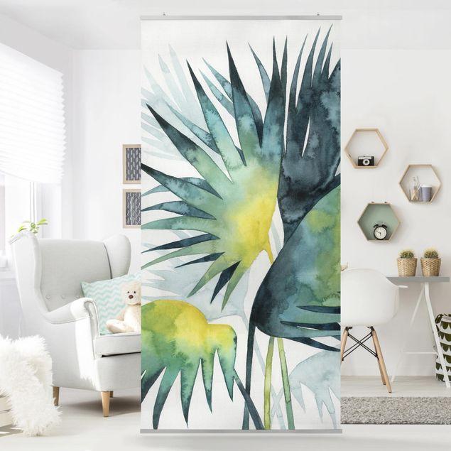 Raumteiler - Tropisches Blattwerk - Fächerpalme - 250x120cm
