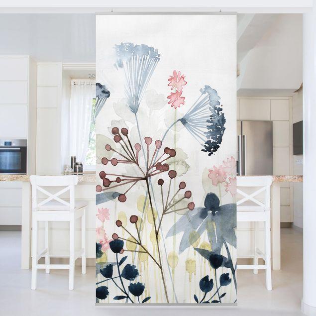 Raumteiler - Wildblumen Aquarell I - 250x120cm