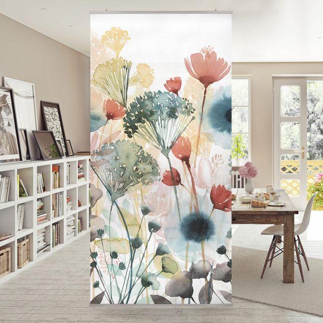 Raumteiler - Wildblumen im Sommer I - 250x120cm