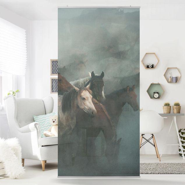 Raumteiler - Wilde Pferde - 250x120cm
