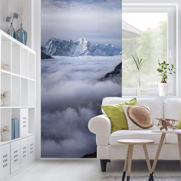 Raumteiler - Wolkenmeer im Himalaya - 250x120cm