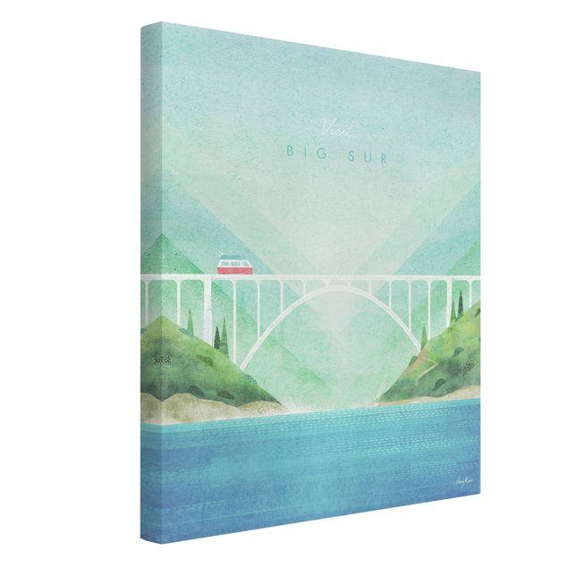 Leinwandbild - Reiseposter - Big Sur - Hochformat 3:4