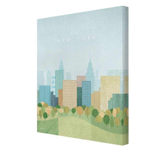 Leinwandbild - Reiseposter - New York Autumn - Hochformat 3:4