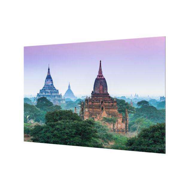 Spritzschutz Glas - Sakralgebäude in Bagan - Querformat 3:2