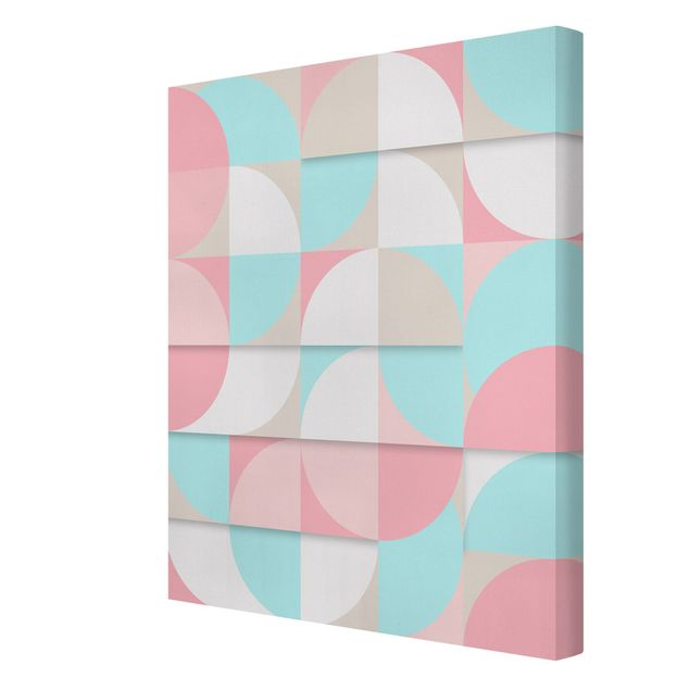 Leinwandbild - Skandinavische Geometrie - Hochformat 3:4