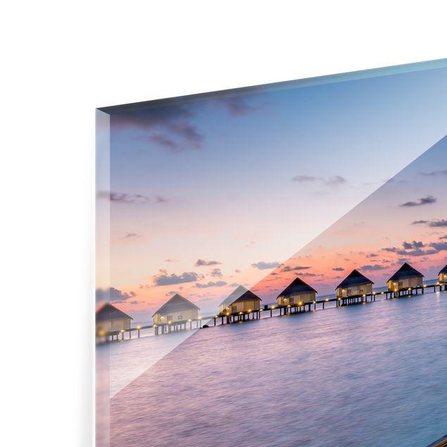 Spritzschutz Glas - Sonnenuntergang im Paradies - Querformat 4:3