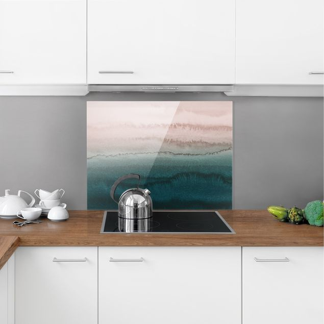 Spritzschutz Glas - Spiel der Farben Meeresrauschen - Querformat 4:3