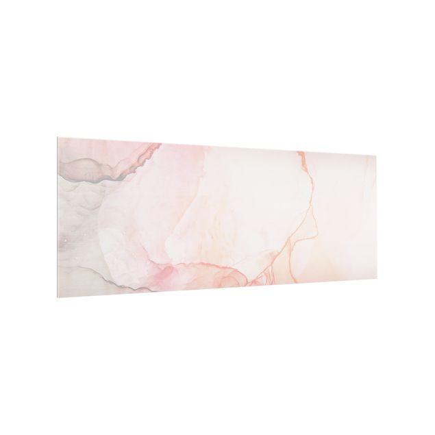 Spritzschutz Glas - Spiel der Farben Pastell Zuckerwatte - Panorama 5:2
