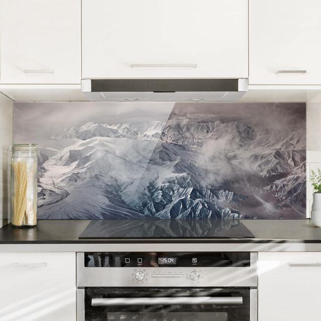 Spritzschutz Glas - Berge von Tibet - Panorama