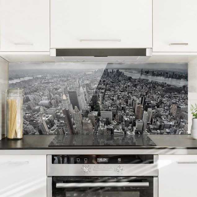 Spritzschutz Glas - Blick über Manhattan - Panorama