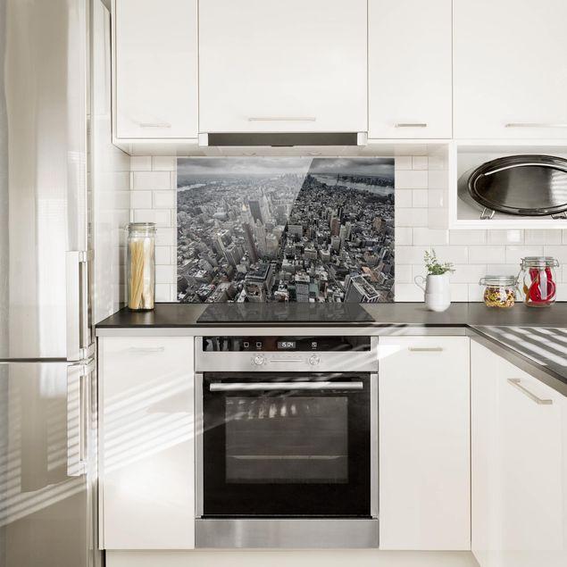 Spritzschutz Glas - Blick über Manhattan - Querformat 2:3