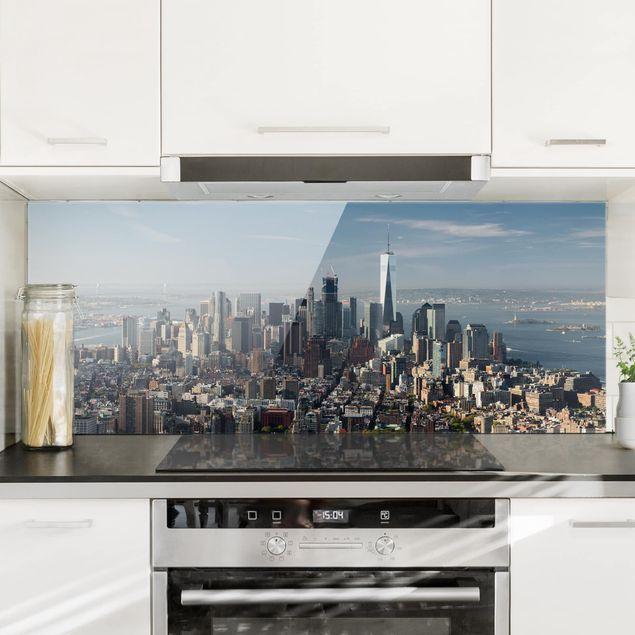 Spritzschutz Glas - Blick vom Empire State Building - Panorama