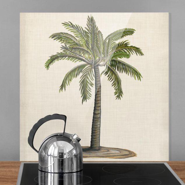 Spritzschutz Glas - Britische Palmen I - Quadrat 1:1