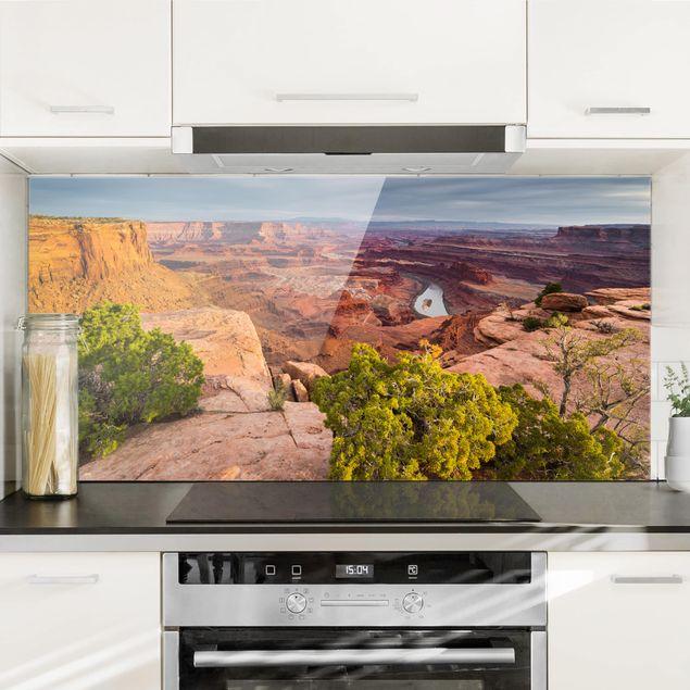 Spritzschutz Glas - Dead Horse Point Canyonlands National Park USA - Querformat 1:2