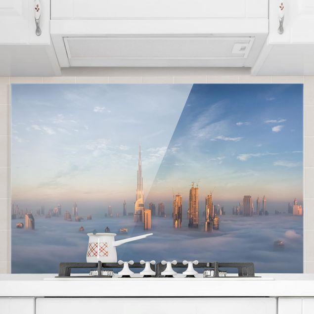Spritzschutz Glas - Dubai über den Wolken - Querformat 2:3