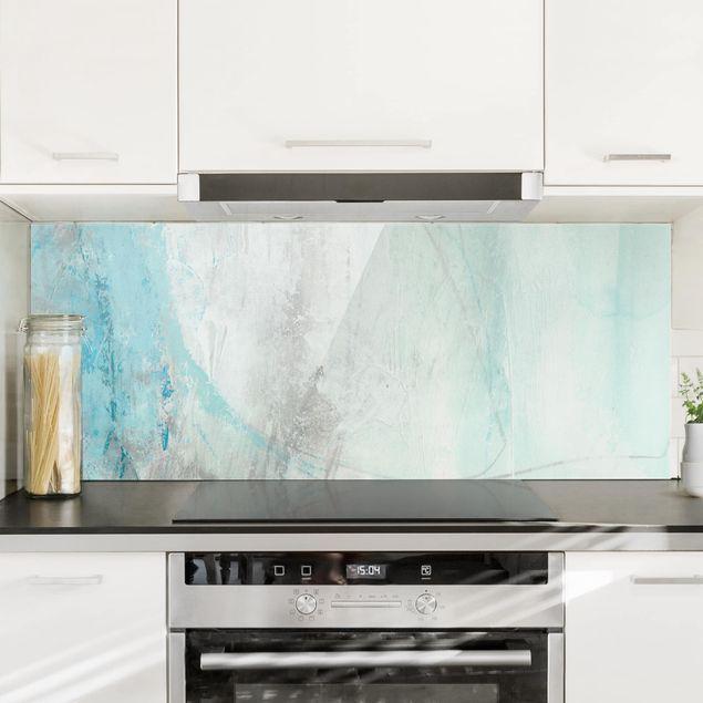 Spritzschutz Glas - Eismeer I - Panorama