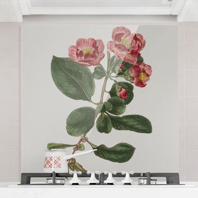 Spritzschutz Glas - Florale Schmuckstücke I - Quadrat 1:1