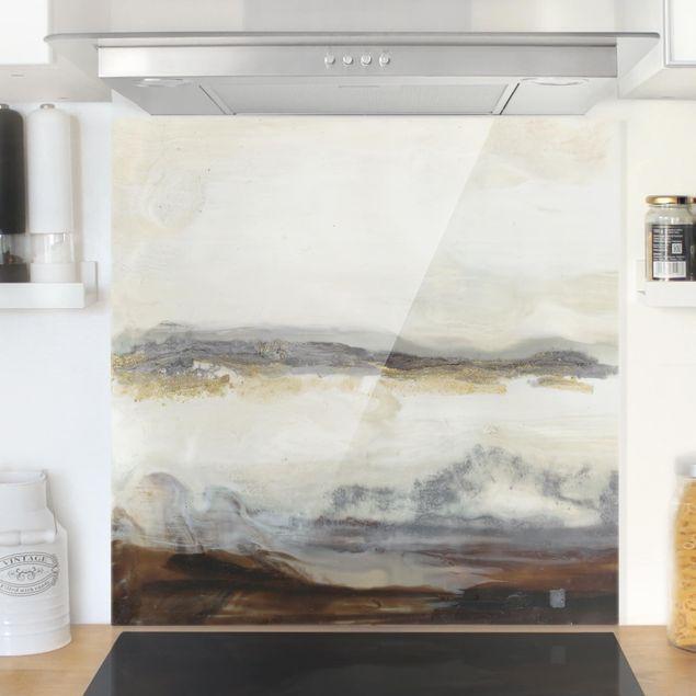 Spritzschutz Glas - Fröhlicher Horizont II - Quadrat 1:1