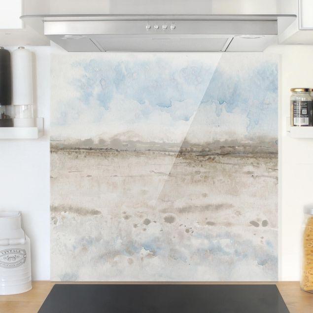 Spritzschutz Glas - Horizont-Kante I - Quadrat 1:1