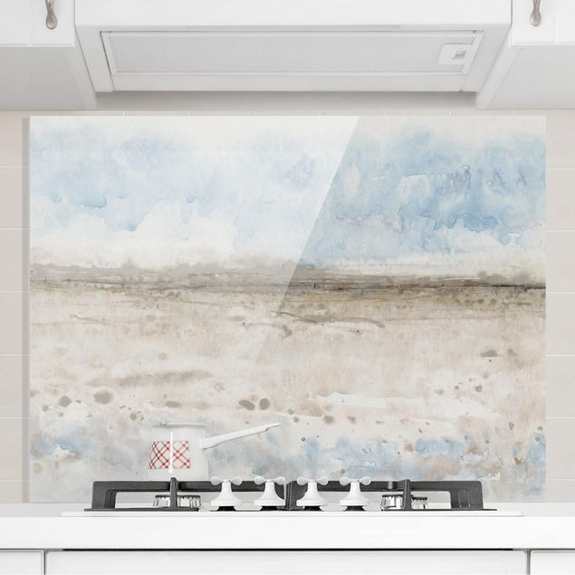 Spritzschutz Glas - Horizont-Kante I - Querformat 3:4