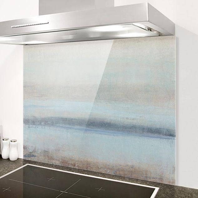 Spritzschutz Glas - Horizont über Blau I - Querformat 3:4