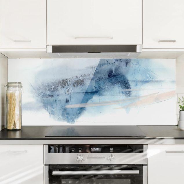 Spritzschutz Glas - Indigo & Rouge II - Panorama