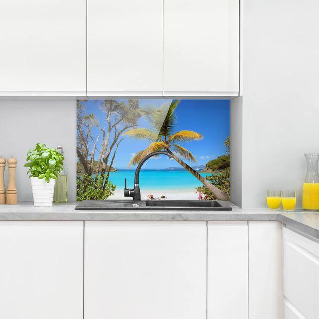 Spritzschutz Glas - Les Seychelles - Quer 3:2