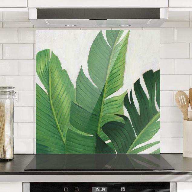 Spritzschutz Glas - Lieblingspflanzen - Banane - Quadrat 1:1